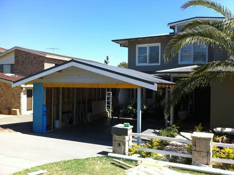 Image displaying finished carport of Northern Beaches home