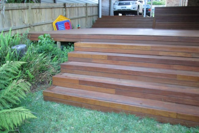 Image of a timber deck staircase