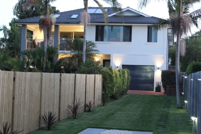 Image of a completed second storey addition on the Northern Beaches
